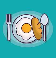 Breakfast related icons vector