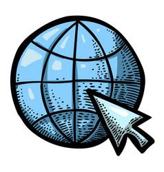 cartoon image of web design icon vector image vector image