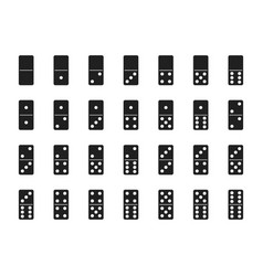 isolated black domino set vector image