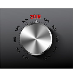 2015 new year card with chrome knob vector image vector image
