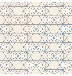Abstract Seamless Geometric Hexagon Pattern Mesh vector image vector image