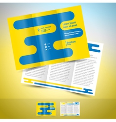 brochure design template leaflet abstract vector image vector image