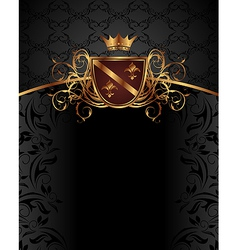 gold vintage with heraldic elements - vector image