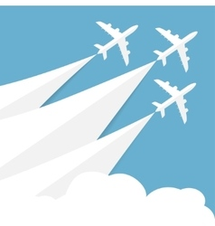 poster with airplanes vector image vector image