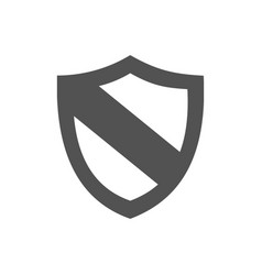 protection shield icon on a white background vector image vector image