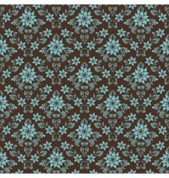 retro damask pattern vector image