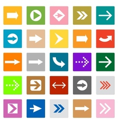 Arrow sign icon set square shape internet button vector image