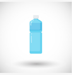 bottle of water flat icon vector image vector image