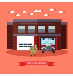 Fire department and vector image