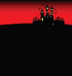 Halloween castle red vector