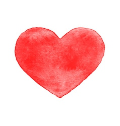 Red watercolor heart isolated vector image vector image