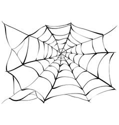 Spiderweb Big black spider web vector image vector image