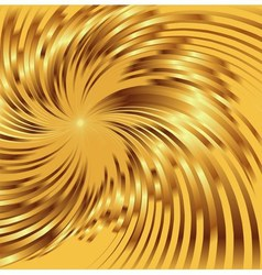 Abstract golden metallic background with swirl vector
