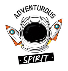 Astronaut adventure spirit printe for tshirt vector