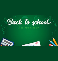 back to school colored pencils design vector image