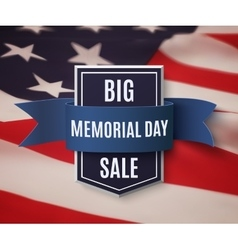Big Memorial Day sale background vector image