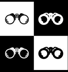 binocular sign black and vector image