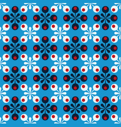 blue abstract background with dots vector image