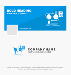 blue business logo template for analysis business vector image