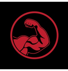 body builder 2 vector image