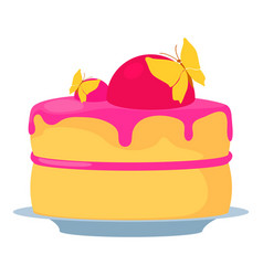 Cake for princess icon cartoon style vector