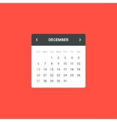 Calendar Widget vector
