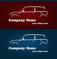 Car company logotype templates vector