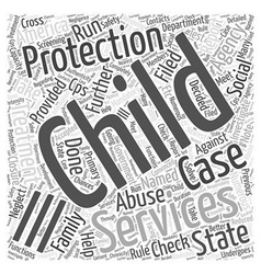 Child protection services word cloud concept vector