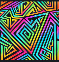 colored maze seamless pattern vector image