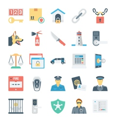 Crime and Security Icons 5 vector image