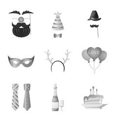 Design of party and birthday icon vector