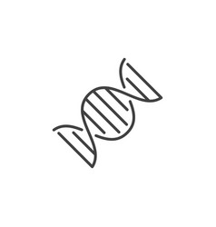 dna icon or design element in thin line vector image