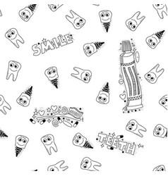 doodle medical pattern vector image