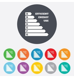 Energy efficiency icon Electricity consumption vector image vector image