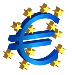 Euro currency sign vector
