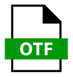 File name extension otf type vector