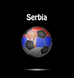 flag of serbia in the form of a soccer ball vector image
