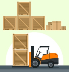 Flat flat loading boxes vector