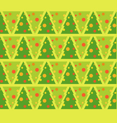 flat of fir tree decorated for vector image