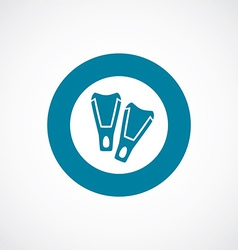flippers icon bold blue circle border vector image