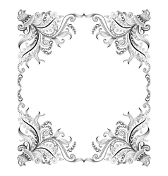 Frame with hand-drawing decorative ornaments vector