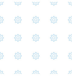 gear icon pattern seamless white background vector image