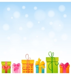 Gift with space for text vector image
