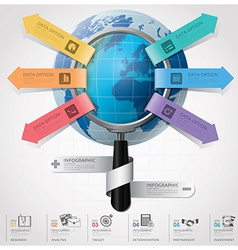 Global Business And Financial Infographic With vector image