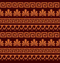 Greek ancient seamless pattern set - floral vector