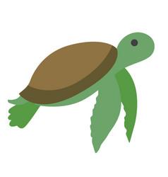 Green turtle flat vector