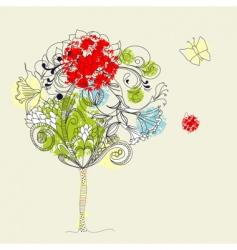 hand drawn tree sketch vector image