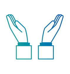 hands human protecting icon vector image