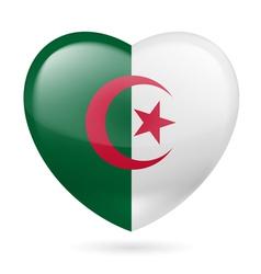 Heart icon of Algeria vector