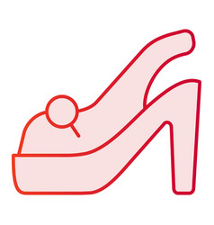 High heel shoe flat icon shoes pink icons in vector